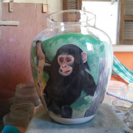 36 Zandschildering Chimpansee