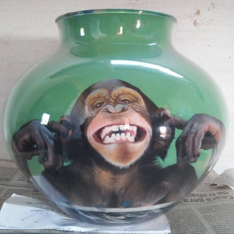 41 Zandschildering Chimpansee