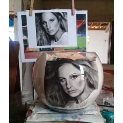 60 Zandschildering Barbra Streisand