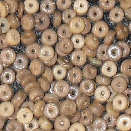 NR. 13 Kokos ringetjes Ø 6 mm creme gemeleerd