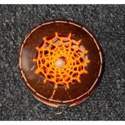 Kokosnoot portemonnee met 2 dreamcatchers oranje