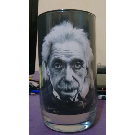 Zandschildering Albert Einstein