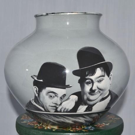 10 Zandschildering Stan Laurel en Oliver Hardy