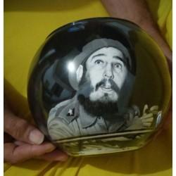 32 Zandschildering Fidel Castro